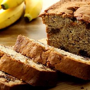 Budín de Banana con Harina de Coco